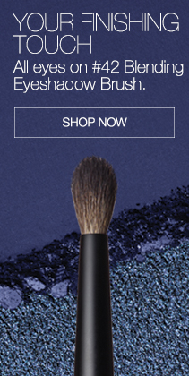 YOUR FINISHING TOUCH. All eyes on #42 Blending Eyeshadow Brush. Shop Now.