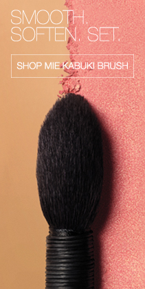 SMOOTH. SOFTEN. SET. Shop Mie Kabuki Brush.